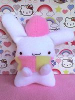 RainCookie Bunny Plushie by VioletLunchell