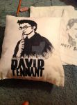 David Tennant Pillow by HazelMarvelRose