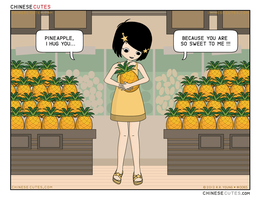 chinese cutes  --  '' pineapple '' by chinese-cutes