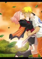 NaruSaku: ....you baka.... by the-pooper