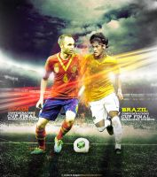 Spain vs Brazil by M-A-G-F-X-Graphic