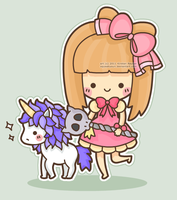 Maplestory Character and Pony by SqueakyToybox