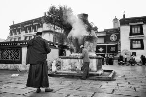The Last of the Monks, Lhasa, Tibet by JohannesLaaksonen