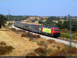 CP 5612 IC572 Azinheira dos Barros 18-07-13 by Comboio-Bolt