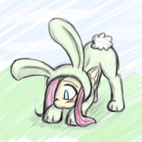Bunnyshy by Thattagen