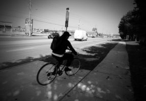 man riding bicycle by Lastday-of-magic