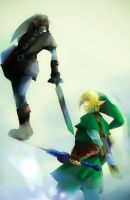 OoT - Dark Link VS Link by Miyukiko