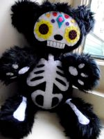 Dia De Les Muertos Bear 2 by Bee-Delicious