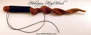 Mahogany Magic Wand by MerlinOfManitou