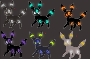 Umbreon adoptable 2. (1 left) by hipika5436