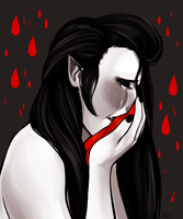 Red tears by MaryLittleRose