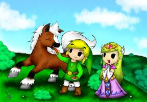 In the meadow with Epona by ChristalLovePkmn
