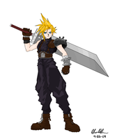 Cloud Strife by aka-bloodfang1