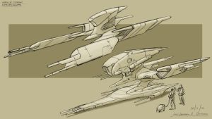 Spaceships Concept Design by JRAS22