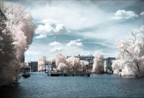 Berlin Spandau Schleuse infrared by MichiLauke