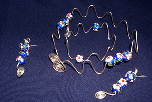 CloisonneAndSilverWireSet by Attackfish