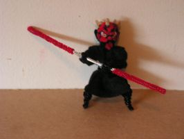 Darth Maul by fuzzyfigureguy