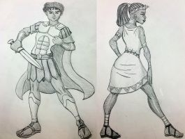 Antony and Cleopatra Sketches by DaBrandonSphere