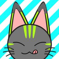green striped kitty icon... by kittycat727