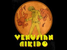 venusian aikido T-shirt design by Draculasaurus