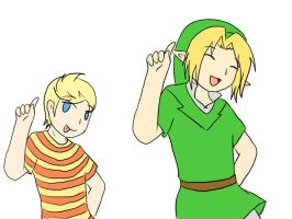 Lucas n Link Caprihna by SparxPunx