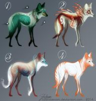 Wolf Adoptables - Batch two - number 4 CLOSED by CobraVenom
