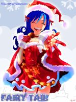 Juvia Christmas (Fond simple) by nina2119