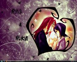 Renji and Rukia by Kishintora