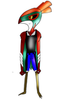 Anthroified Hawlucha by laopokia