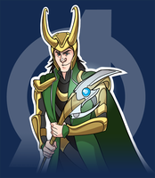 Loki shirt design by pai-draws