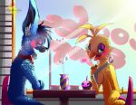 Dating in a coffee's bar [ AT ] ( Toy Bonnica ) by Hiyoko-little-chick