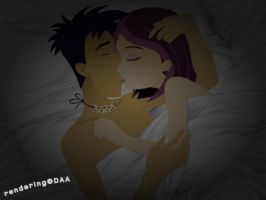 J+N Kiss Goodnight by daanton