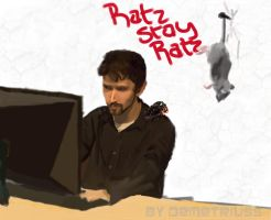 Stay Ratz by DemetrPaints