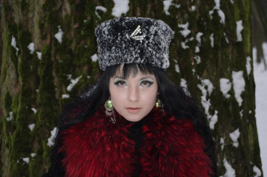 STOCK  - Winter Goth / 19th century Russian by Apsara-Stock