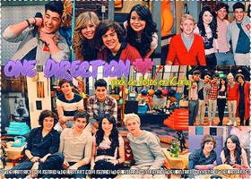 one direction en iCarly {pack de fotos} by RenaB14