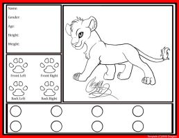 Lion Cub Template by Dragara