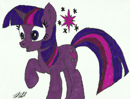 Twilight Sparkle, Hoof Drawn, Fully Colored. by Ratchet-Wrench