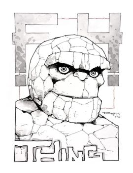 The Thing! A doodle i did at the STX Brazos Valley by aethibert