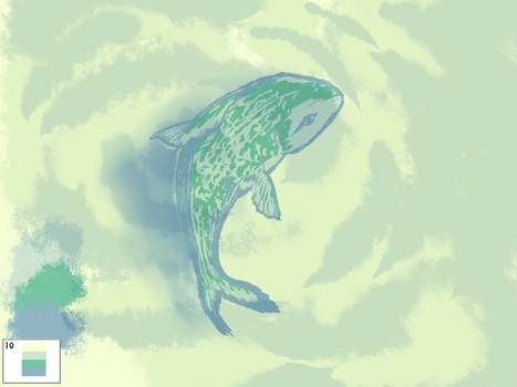 Palette Challenge Day 10: Green Fish by omhira