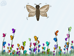 The Moth And The Butterflies by Rhiallom