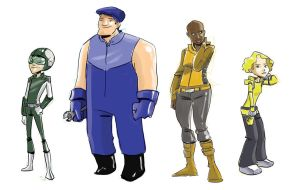 Some character designs by caanantheartboy