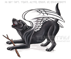 Angel Max Memorial Commission by WildSpiritWolf