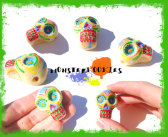 Day of the Dead Sugar Skull by monsterkookies