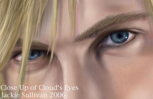 Cloud - Eyes Close Up by jackieocean