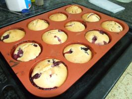 muffins with cherry by Boolpropenacheats