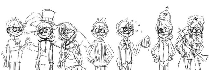 LONELY Characters WIP by Radioactive-Bananas
