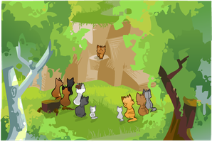 ThunderClan Camp by Nifty-senpai