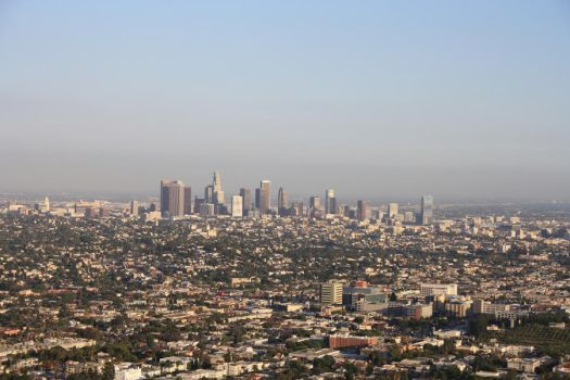 Los Angeles from the Hills by scifibunny