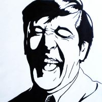 Stephen Fry laughing by nevermindthename
