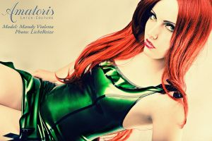 MandyVioletta Latexkleid (Kl0038 -Green-Metallic) by AmatorisLatexCouture